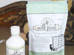 Showing what miss mustard seeds milk paint and bonding agent look like